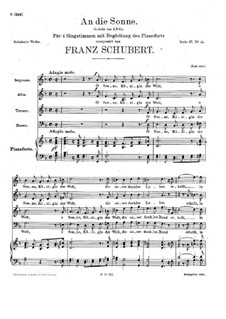 An die Sonne (To the Sun), D.439: An die Sonne (To the Sun) by Franz Schubert