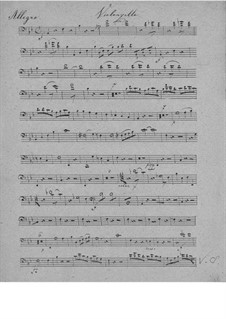 Piano Trio in B Flat Major, D.28: parte violoncelo by Franz Schubert