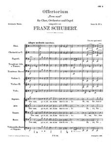 Tres sunt, D.181: Tres sunt by Franz Schubert