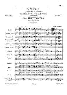 Benedictus es Domine. Gradual for Choir, Orchestra and Organ, D.184 Op.150: Benedictus es Domine. Gradual for Choir, Orchestra and Organ by Franz Schubert