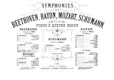 Symphony No.4 in D Minor, Op.120: versão para piano de quatro mãos by Robert Schumann