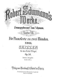 Sketches, Op.58: set completo by Robert Schumann