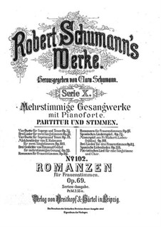 Romances for Female Voices and Piano ad libitum, Op.69: set completo by Robert Schumann