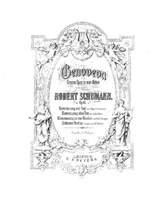 Genoveva, Op.81: arranjo para piano by Robert Schumann