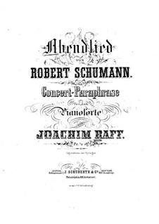Concert Paraphrase on Theme by Schumann: Partitura piano by Joseph Joachim Raff