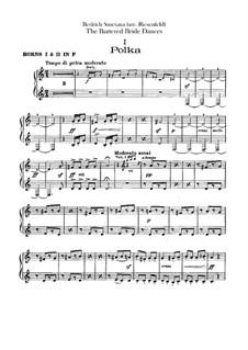 Three Dances: parte trompas by Bedřich Smetana