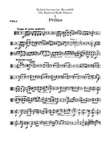 Three Dances: parte viola by Bedřich Smetana