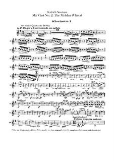 Vltava, T.111: parte clarinetas by Bedřich Smetana