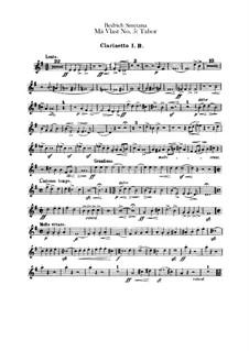 Tábor, T.120: parte clarinetas by Bedřich Smetana