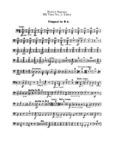 Tábor, T.120: Parte percussão by Bedřich Smetana