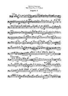 Tábor, T.120: parte fagotes by Bedřich Smetana