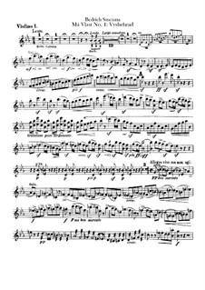 Vyšehrad, T.110: violino parte I by Bedřich Smetana