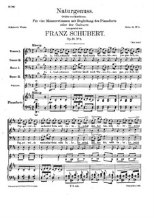 Naturgenuss (Delight in Nature), D.422 Op.16 No.2: For voices and piano (or guitar) by Franz Schubert