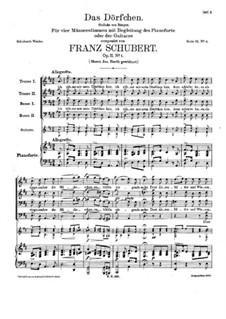 Das Dörfchen (The Village), D.598 Op.11 No.1: Das Dörfchen (The Village) by Franz Schubert