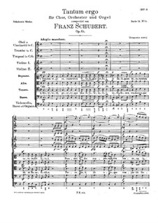 Tantum ergo in C Major, D.739 Op.45: Tantum ergo in C Major by Franz Schubert