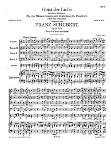 Spirit of Love, D.747 Op.11 No.3: For voices and piano (or guitar) by Franz Schubert