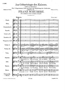 On the Birthday of the Emperor, D.748 Op.157: On the Birthday of the Emperor by Franz Schubert