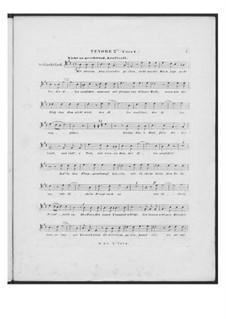 Battle Song for Double Male Choir and Piano (or Harmonium), D.912 Op.151: Tenor II part (Choir I) by Franz Schubert