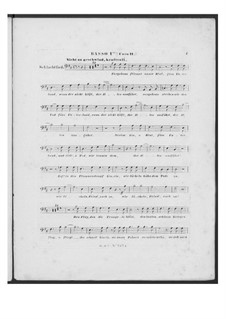 Battle Song for Double Male Choir and Piano (or Harmonium), D.912 Op.151: Bass I part (Choir II) by Franz Schubert