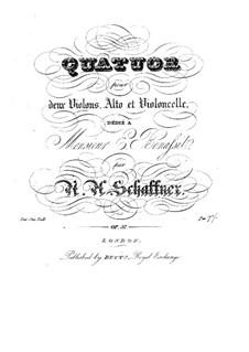 String Quartet in C Major, Op.57: quarteto de cordas em C maior by Nicolaus Albrecht Schaffner
