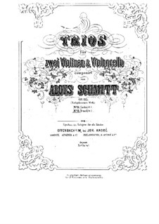 String Trios, Op.135: Trio No.2 in D Minor by Aloys Schmitt
