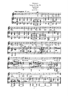 Songs and Romances, Op.96: Partitura piano-vocal by Robert Schumann