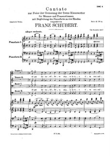 Cantata for Choir and Piano Four Hands in C Major, D.936: Cantata for Choir and Piano Four Hands in C Major by Franz Schubert