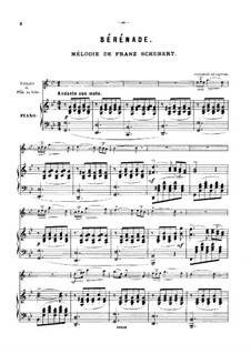 No.4 Ständchen (Serenade): For violin (or flute, or cello) piano by Franz Schubert