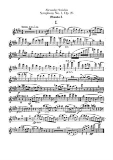 Symphony No.1 in E Major, Op.26: parte de flautas by Alexander Scriabin