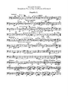 Symphony No.4 in C Major 'The Poem of Ecstasy', Op.54: partes fagote e contrafagote by Alexander Scriabin