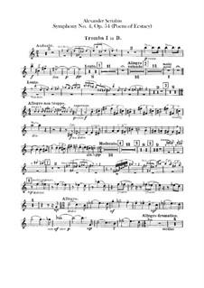 Symphony No.4 in C Major 'The Poem of Ecstasy', Op.54: parte trompetas by Alexander Scriabin
