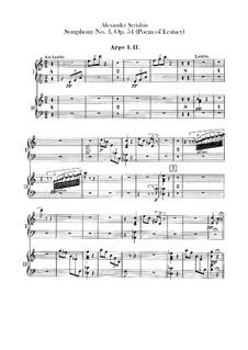 Symphony No.4 in C Major 'The Poem of Ecstasy', Op.54: parte harpas by Alexander Scriabin