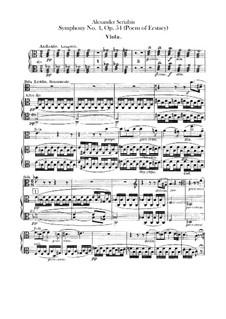 Symphony No.4 in C Major 'The Poem of Ecstasy', Op.54: parte violas by Alexander Scriabin