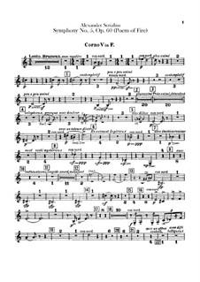 Symphony No.5 'Prometheus. The Poem of Fire', Op.60: Horns V-VIII parts by Alexander Scriabin