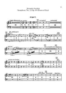 Symphony No.5 'Prometheus. The Poem of Fire', Op.60: parte harpas by Alexander Scriabin