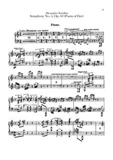 Symphony No.5 'Prometheus. The Poem of Fire', Op.60: parte piano by Alexander Scriabin