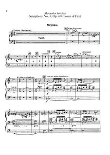 Symphony No.5 'Prometheus. The Poem of Fire', Op.60: parte orgão by Alexander Scriabin