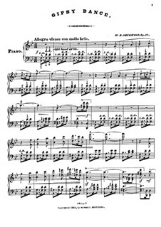 Gipsy Dance, Op.10: Gipsy Dance by William H. Sherwood