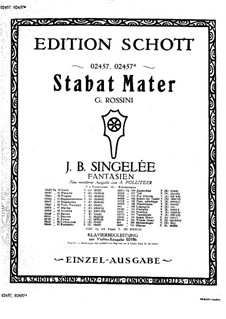Fantasia on Themes from 'Stabat Mater' by Rossini, Op.134: Score by Jean Baptiste Singelée