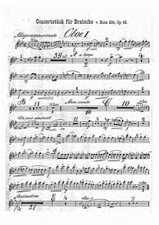 Concert Piece in G Minor, Op.46: parte de oboes by Hans Sitt
