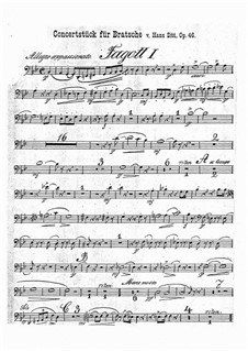 Concert Piece in G Minor, Op.46: parte fagotes by Hans Sitt