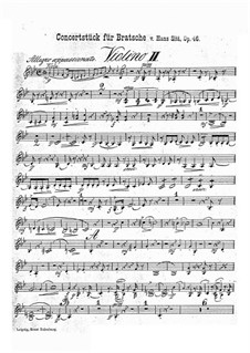 Concert Piece in G Minor, Op.46: violino parte II by Hans Sitt
