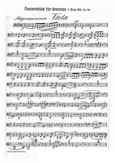 Concert Piece in G Minor, Op.46: parte viola by Hans Sitt