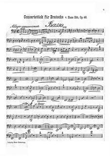 Concert Piece in G Minor, Op.46: Parte contrabaixo by Hans Sitt