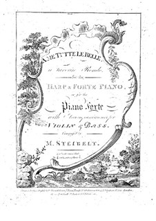 A me tutte le belle. Rondo for Harp and Piano: parte harpa by Daniel Steibelt