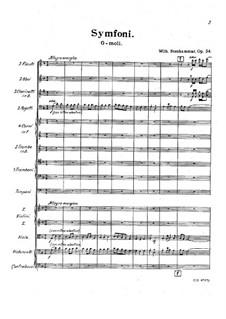 Symphony No.2 in G Minor, Op.34: movimento I by Wilhelm Stenhammar