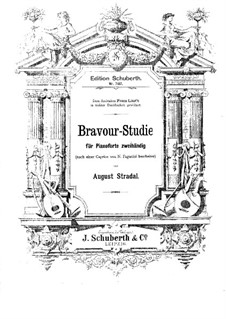 Bravour-Studies after Paganini's Caprices: Study No.1 by August Stradal