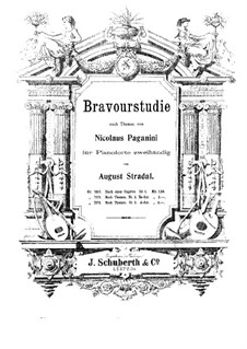 Bravour-Studies after Paganini's Caprices: Study No.2 by August Stradal