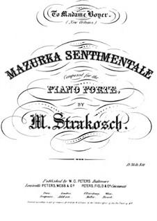 Mazurka sentimentale: Mazurka sentimentale by Maurice Strakosch
