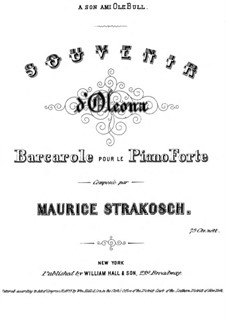 Souvenir d'Oleona: Souvenir d'Oleona by Maurice Strakosch